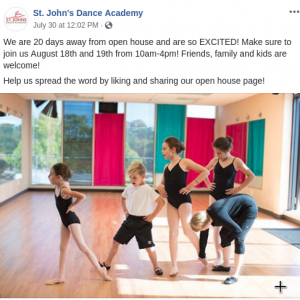 Dance Academy Facebook